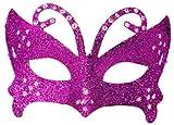 Morado con purpurina brillantes de pelota de Masquerade disfraz Antifaz