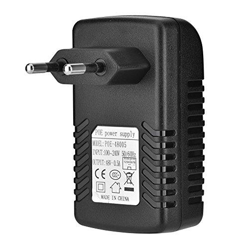 Diyeeni POE Injector tragbarer POE Injector für die Wandmontage Kompatibel mit IP-Telefonen, Wireless Access Points und Client-Geräten usw(EU)