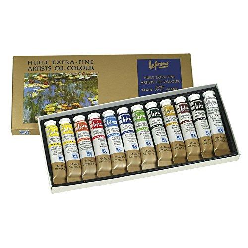 Lefranc & Bourgeois 404596 - Lote de 12 tubos de pintura extrafina al óleo (20 ml)
