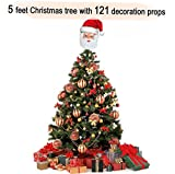 #6: TiedRibbons Christmas/xmas tree 5 feet with 121 Tree Hanging Ornaments | Christmas tree and decorations | Christmas tree for desk | xmas decoration items | xmas home decoration