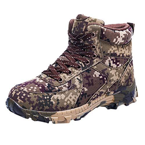 Stivali Invernali Scarponcini da Trekking Ed Escursionismo da Uomo Scarpe da Passeggio All'Aperto Camminate al Caldo Stivali Militari Stivali Mimetici Impermeabili in Super Fibra