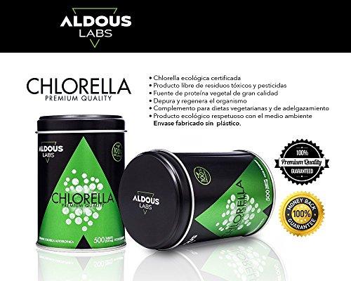 Chlorella-Ecolgica-Premium-para-165-das-500-comprimidos-de-500mg-Pared-celular-rota-Vegano-Libre-de-Plstico-Certificacin-Ecolgica-Oficial-por-Ecocert-y-CAAE