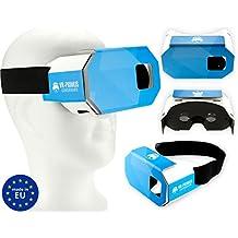 VR-PRIMUS Cardboard - Gafas de Realidad Virtual VR - Para smartphones Android y iOS como iPhone, Samsung, HTC, LG, Huawei, Motorola, OnePlus, ZTE y muchos más - Compatible con aplicaciones de Google Cardboard - Muy ligero. Con almohadilla de nariz suave y banda elástica ancha - 3D virtual reality video headset / vr goggles / glasses - Hecho en Europa.