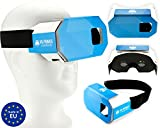VR-PRIMUS® Cardboard, VR Brille fürs Smartphone/Handy z.B. Android,iPhone,Samsung Galaxy,Huawei,LG,Plus,Note,S7,S8,S9,7,8,9,X,p10,p20,G6 bis 6.0 Zoll. Nasenpolster,Kopfband,Google Cardboard Apps
