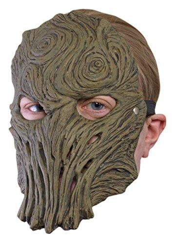 Schaurige Trophäenmaske Holz Baum LARP-Maske Fantasymaske Fasching (Holz Kostüm Soldat)