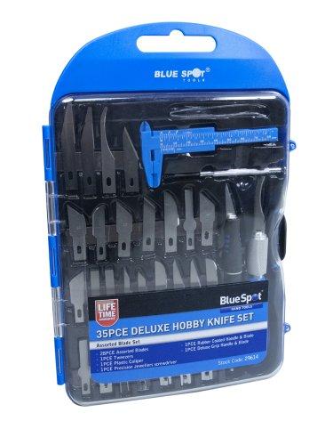 Bluespot 29614 Set de 35 lames de haute qualité pour utilisation courante