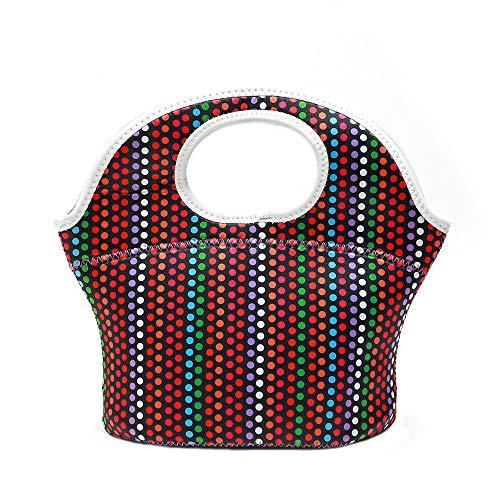 KonJin Lunch Tasche Lunchtasche Wasserdicht Mittagessen Tasche Isolierte Mittagessen Kühler Neopren Picknicktaschen für Frauen Kinder Mädchen Männer Jungen Büro Schule Reisen (Polizei-kleid Für Kid Online)