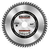 KRT020424 HSS Kreissägeblatt Holzsägeblatt Ø216 x 30 x 2,2mm 60 Zähne für Holz + 3 Reduzierringe