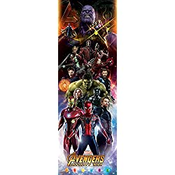 Póster de la Guerra de Infinity con personajes de la Guerra de los Vengadores, papel, multicolor, 158 x 53 x 0,03 cm