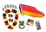 Fußball Fanset Fanartikel Deutschland EM 2016 Frankreich Autofahne Windhose Autokorso