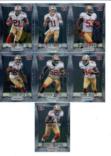 best loved a7c5f 8a60b 2012 Panini Prizm Football San Francisco 49ers Vetarans Team Set of 7 cards  including Frank Gore, Michael Crabtree, Randy Moss, Patrick Willis, Vernon  ...