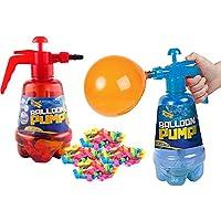 The Magic Toy Shop 2 in 1 Air Water Bomb Balloon Pump Kids Party Outdoor Garden 100 Pieces Balloons Set