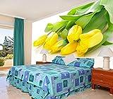 Wandtapete Wanddeko Vlies Tapete Wandbilder Die Gelbe Tulpen Große Wandmalereien Tv Hintergrund Tapete Tapete Sofa Wand Hintergrund Modernen Minimalistischen Blume