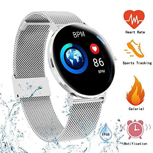 Pulsera de Actividad Smartwatch Actividad Inteligente Impermeable IP68,Reloj Deportivo con Monitor de Sueño Podómetro Contador Notificación Whatsapps Facebook Reloj Iinteligente Hombre Mujer