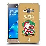 Head Case Designs Weihnachts-Wunsch Wilbur Die Katze All Star Weinachten Ruckseite Hülle für Samsung Galaxy J1 (2016)