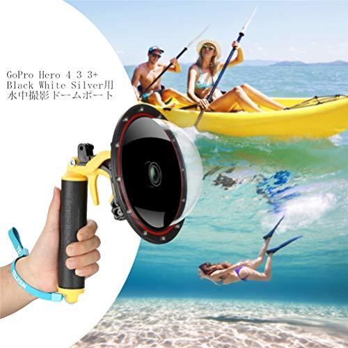 FEIMUOSI GoPro Dome Port Hero 4 Hero 3 3+ custodia subacquea con pistola scatto e impugnatura galleggiante Fotografia paraluce Custodia impermeabile