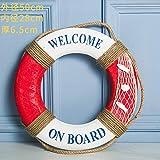 THEALEEWIN Ozean-Rettungsring-Schwimmen Ring Bar Restaurant Shop-Hintergrund-Wand-Wand-Dekorations-Wand-Dekoration