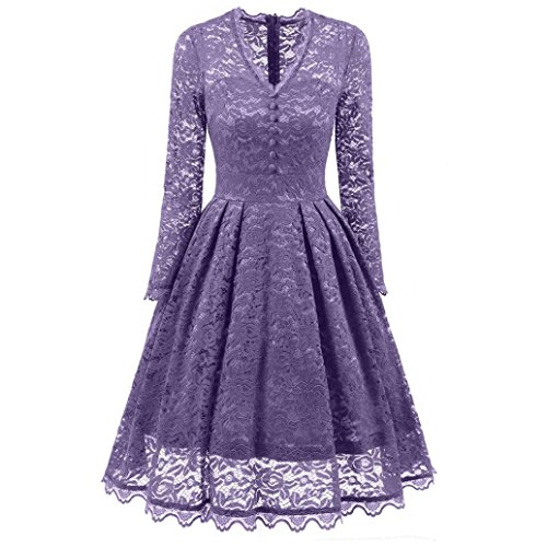 Damen Lace Rueckseite Offen Kurzarme Chiffon Lange Abendkleider,binggong -