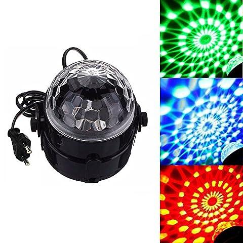 Refoss LED Party Licht Mini Disco 7 Farben Magic Rotierende Kugel für KTV, Hochzeit Show, Bars, Club
