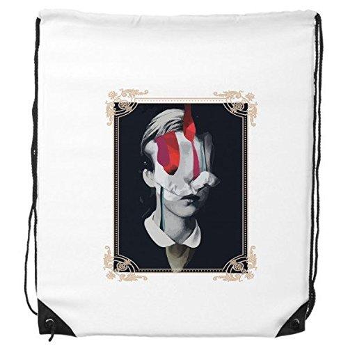 Baroque Art Ölgemälde Frau Figur abstrakt Rahmen modern Illustration Muster Kordelzug Rucksack feine Linien Shopping Handtasche Kreatives Geschenk Schulter Umweltfreundliche Tasche aus Polyester