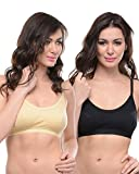 #10: BODYCARE Pack of 2 Sports Bra in Black-Skin Color - E1604BS