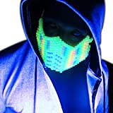Glow in the Dark Rainbow Sub Zero Kandi Mask by Kandi Gear, rave mask, halloween mask, beaded mask, bead mask for music fesivals and parties