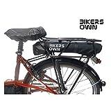 BikersOwn Erwachsene Case4rain Akkuschutz Regenschutz, schwarz, One Size