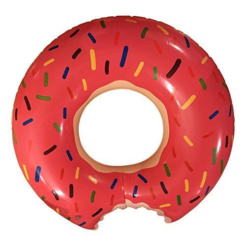 tante-tina-inflatable-giant-donut-ring-air-mattress-swimming-toy-swimming-ring-pool-float-yellow-pin