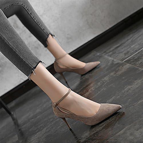 Jqdyl Tacones 2018 New Spring señaló fino con tacones altos Women con zapatos salvajes negros profesionales Shoes...