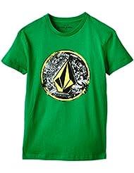 Volcom Punk Circle - Camiseta para niños, color verde, talla 12 años