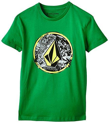 Volcom - Punk Circle, T-shirt per bambini e ragazzi, verde (green), 14 anni (Taglia produttore: X-Large)