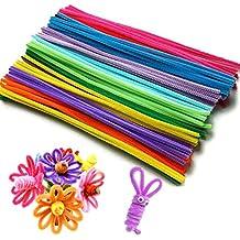 Limpiapipas , Limpiadores de Pipa Tallos de Chenilla Colores Variados para Manualidades 6mm*30cm 200 piece