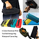 EUTUOPU Portable Zipper Tool Bag Pouch Oxford Cloth Organizer Storage Small Parts Hand Tool for Plumber Electrician Hardware Accessories Storage (Army Green)