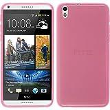 PhoneNatic Funda de Silicona Compatible con HTC Desire 816 - Transparente Rosa -...