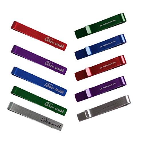 DTD0101 Design elegante Set di 5 colori e 2 taglie clip Uomo Acciaio Tie - 10 pezzi da Dan Smith