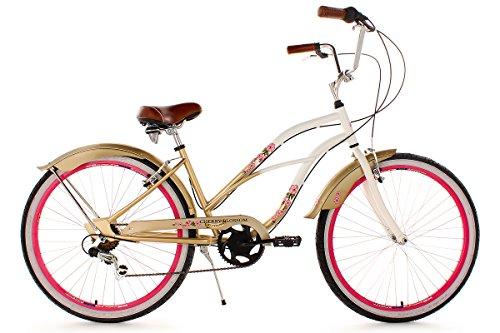 KS Cycling Damen Fahrrad Beachcruiser Cherry-Blossom RH 42 cm, Bronze, 26, 717B