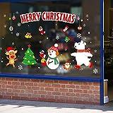 JERKKY 1 Blatt 45x60 cm Frohe Weihnachten Wandaufkleber Nicht Kleber Static Cute Bunte Muster DIY Schaufenster Fensterglas Hintergrund Neujahr Dekoration 6251