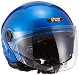 Studds Track Super Half Helmet (Flame Blue, M)