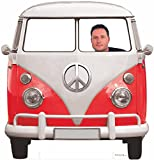 Photocall Coche Volkswagen Hippie 1,50x1,50cm   Photocall Divertido para Bodas, Cumpleaños,...