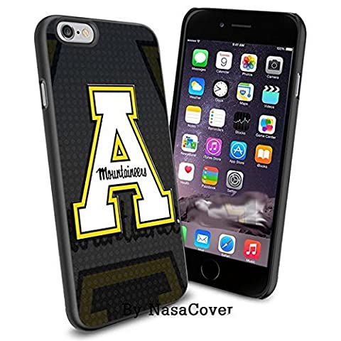 (Available for iPhone 4,4s,5,5s,6,6Plus) NCAA University sport Appalachian State Mountaineers , Cool iPhone 4 5 or 6 Smartphone Case Cover Collector iPhone TPU Rubber Case Black [By Lucky9Cover]