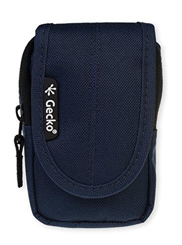 GeckoCovers universal Kameratasche in der Größe small und in der Farbe blau/blue - passend für Digitalkameras und Kompaktkameras wie z.B. Panasonic DMC-SZ3EG-K