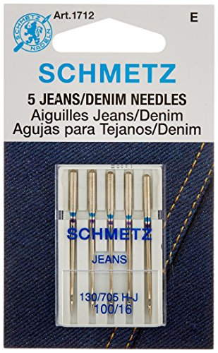 Euro-Notions Jean & Denim Machine Needles-Size 16/100 5/Pkg