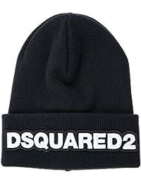 Dsquared2 cuffia berretto uomo in lana originale nero 31cbfc160d84