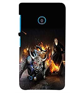 PRINTSHOPPII ANGRY Back Case Cover for Nokia Lumia 530::Microsoft Lumia 530