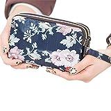 Lembeauty Animal Motif Fleur Porte-Monnaie changent Pochette Support pour téléphone Portable Sac à Main pour Femme Filles