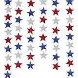 NATUCE Guirnalda de Papel, Estrellas Papel Decoracion, Decoración de Guirnalda con Estrella Banner de Bunting para Cumpleaños de Boda de Fiesta 2 Paquetes * 2M