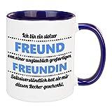 Tasse Stolzer Freund (Freundin) I Becher aus Keramik mit romantischem Spruch – Bedruckte Partner Kaffeetasse Geschenkidee zum Geburtstag, Jahrestag