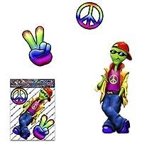 Auto adesivo hippy alieno di pace per camion per auto camion - ST00030_SML - adesivi JAS