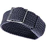 20mm High-end Soft Perlon Nylon Watch Straps Replacements in Gray one Piece Nato Aviator Style Flexible