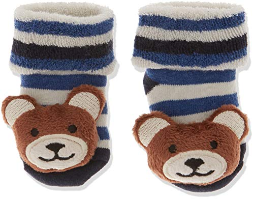 Sterntaler Jungen Baby-Rasselsöckchen Socken, Blau (Marine 300), One Size (15/16) -